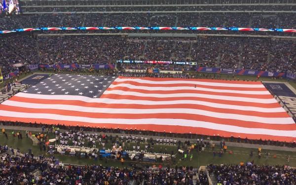 american flag football