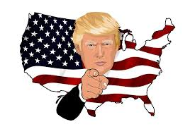 pic - Trump in Map-Flag animated